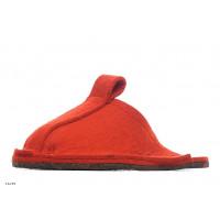 Тапочки войлочные домашние - цвет красный