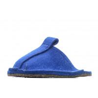 Тапочки войлочные домашние - цвет синий