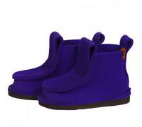 Сшитые валенки короткие - цвет фиолетовый