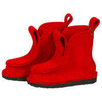 Сшитые валенки средние - цвет красный